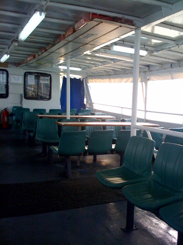 First I get on this ferry - for 10 minutes.